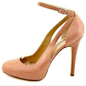 Pink Ankle Wrap Heels INC International Concepts